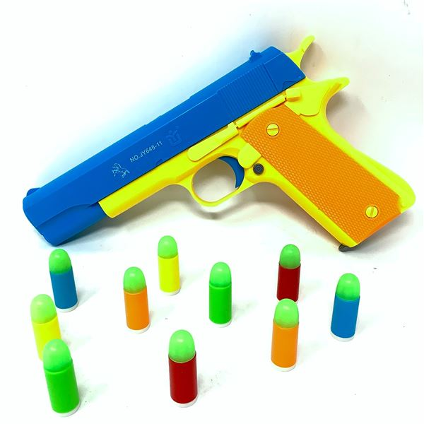 Toy Pistol with Ejecting Magazine & Glow Tip Bullets
