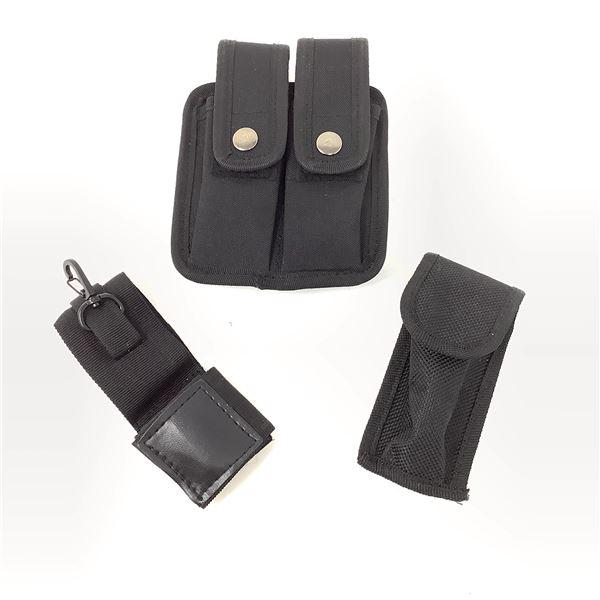 "2 x Nylon Belt Pouches & ""Key Keeper"" Belt Accessory"