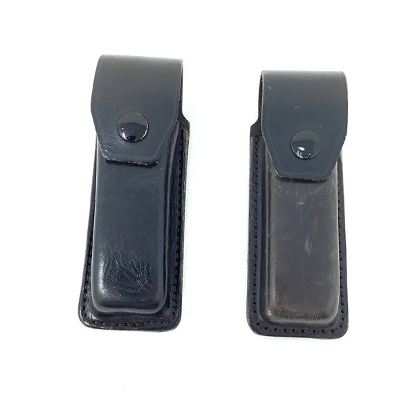 2 x Leather Single Magazine Belt Pouches