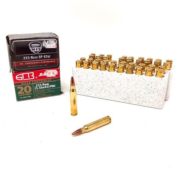 Assorted 223 Rem Ammunition, 80 Rounds