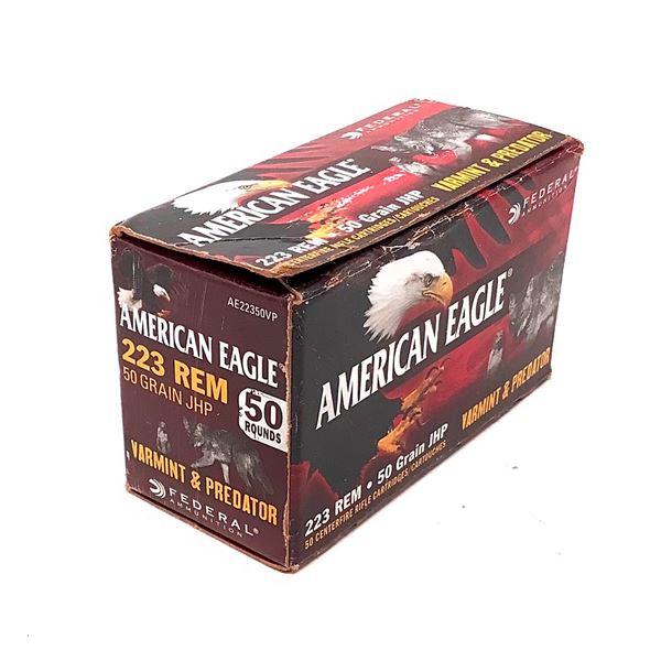American Eagle 223 Rem Ammunition, 50 Rounds