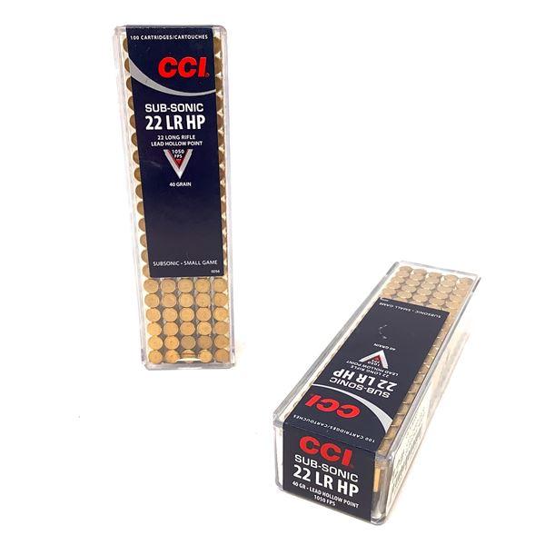 CCI Sub-Sonic 22LR HP Ammunition, 200 Rounds