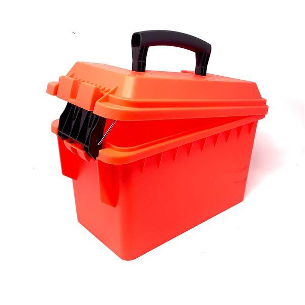 Blaze Orange Plastic Ammo Can