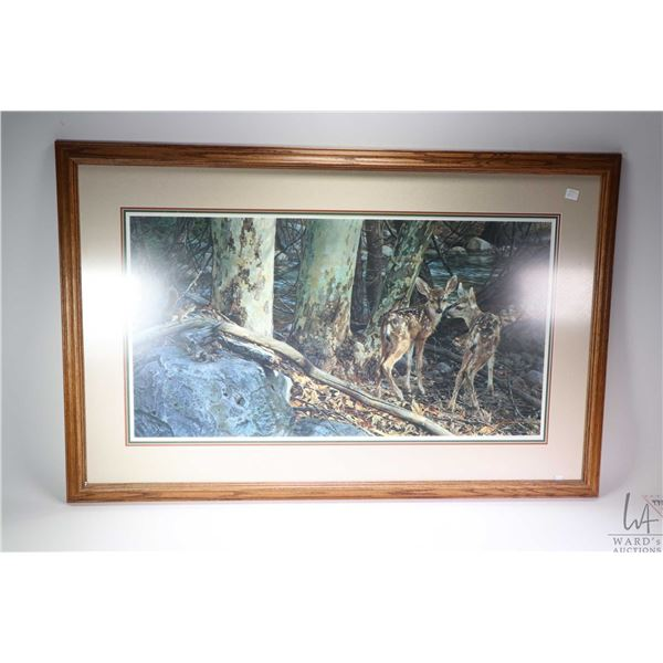 """Framed limited edition print titled """" Broken Silence"""" and pencil signed by artist Carl Brenders, 254"""
