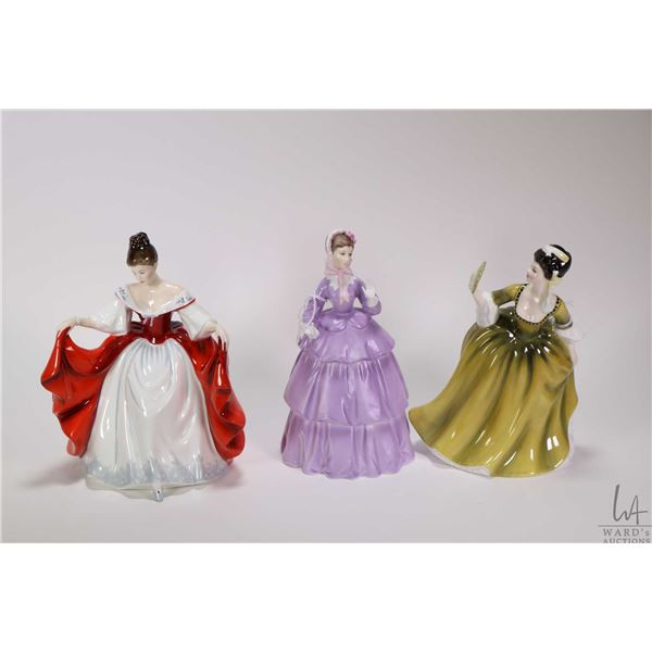 Three porcelain figurines including Royal Doulton Sara HN2265,  Royal Doulton Simone HN2378 and Roya