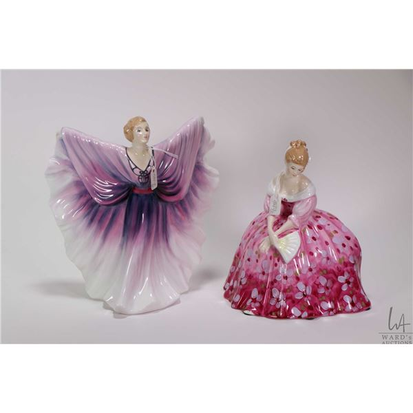 Two Royal Doulton figurines including Isadora HN2938 and Victoria HN2471