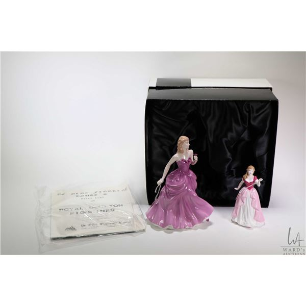 Two boxed Royal Doulton figurines including Victoria HN4623 and smaller figurine Vicki HN4774