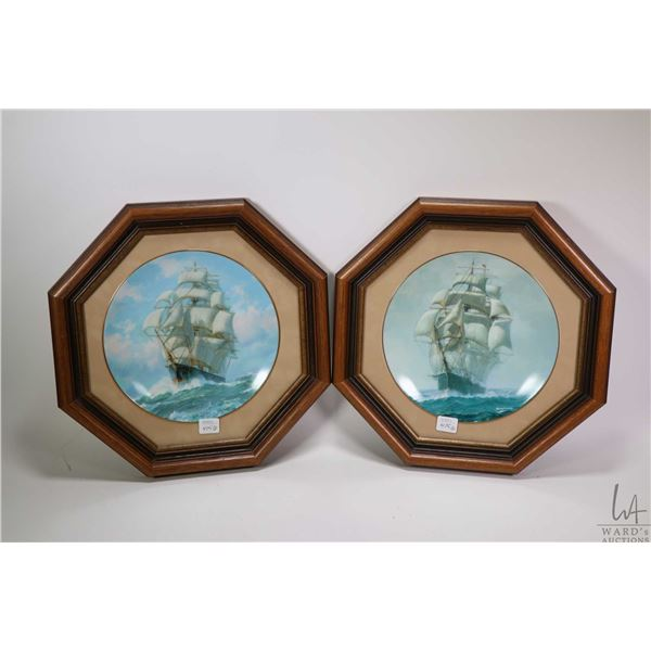 Framed limited edition print of sail boats, pencil signed by artist 57/350 plus two framed collectib