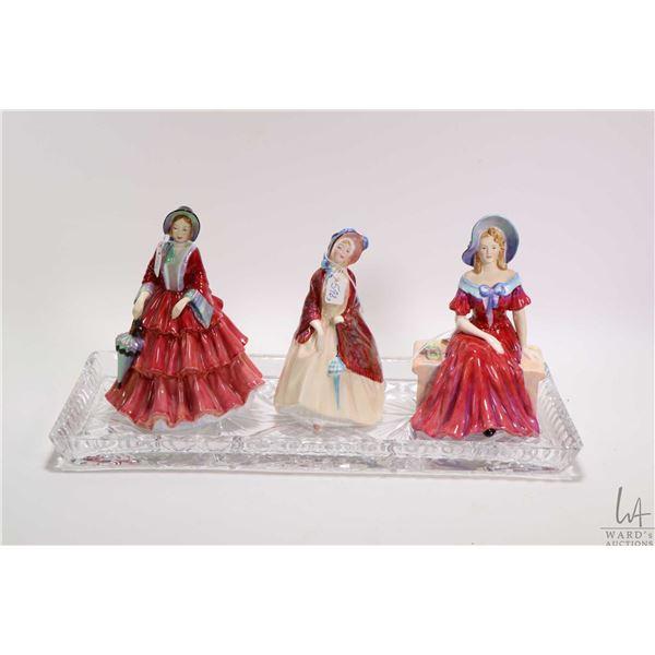 "Three figurines including Royal Doulton ""Paisley Shawl"" HN1988, Paragon ""Ursula"" 107EH and Paragon """