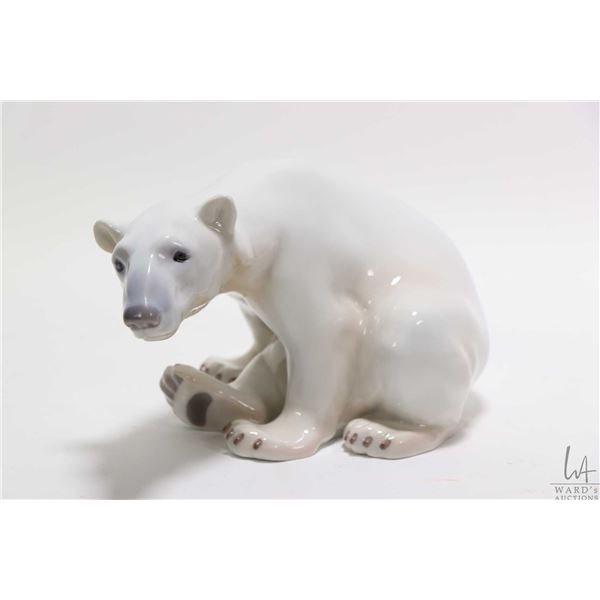 """Royal Copenhagen glazed porcelain bear approximately 8"""" in length"""