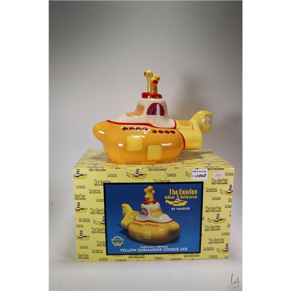 Collector's Edition Yellow Submarine cookie jar by Vandor, appears new in box