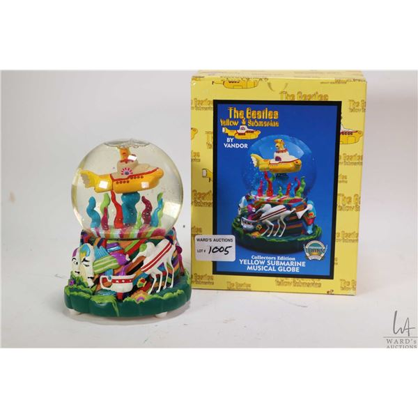Boxed collector's edition Yellow Submarine musical globe by Vandor, appears new in box