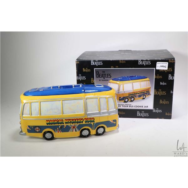 Collector's Edition Magical Mystery Tour Bus cookie jar by Vandor, appears new in box