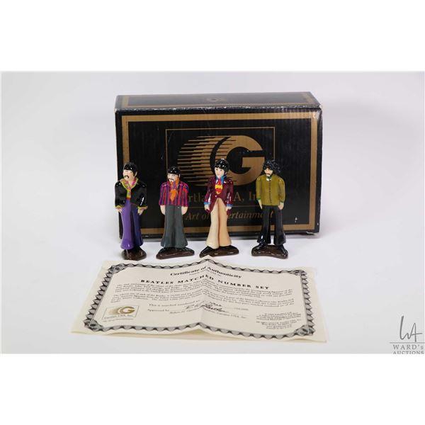 "Four Gartlan USA Art of Entertainment limited edition 4"" Beatles hand painted cold cast porcelain fi"