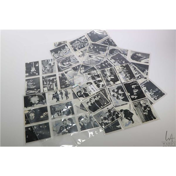 Full set numbers 61-115, second series vintage Beatles black and white collector/trading cards, prin
