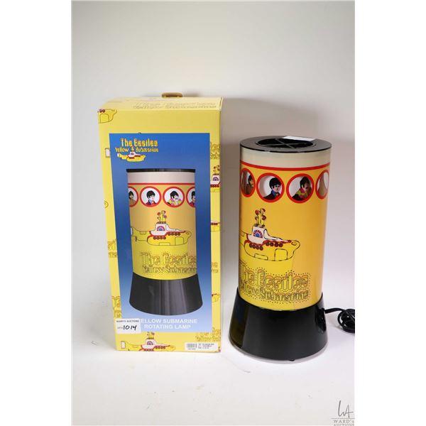 Beatles Yellow Submarine rotating lamp from Rabbit Tanaka, appears new in box