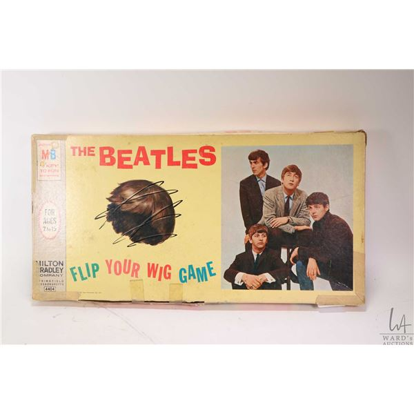 The Beatles board game by Milton Bradley Co. including board, all four band member game pieces, wood