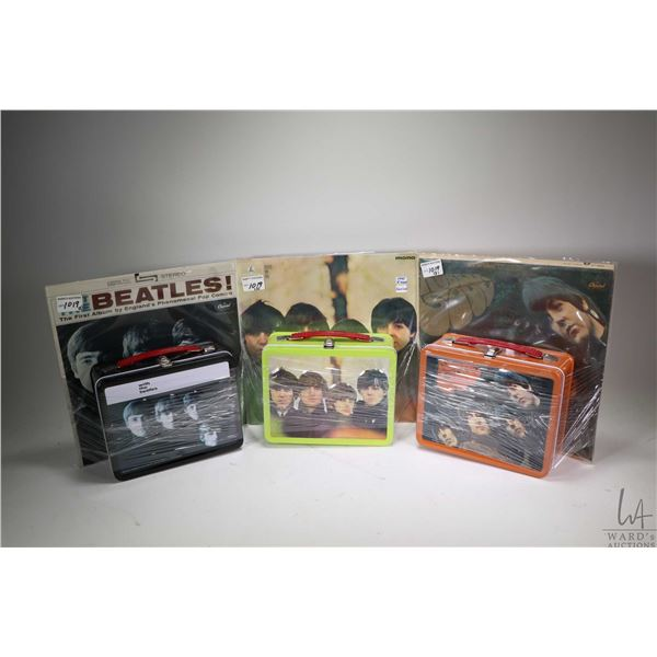 Three Beatles LPs including Rubber Soul, With the Beatles and Beatles for Sale, each with matching c