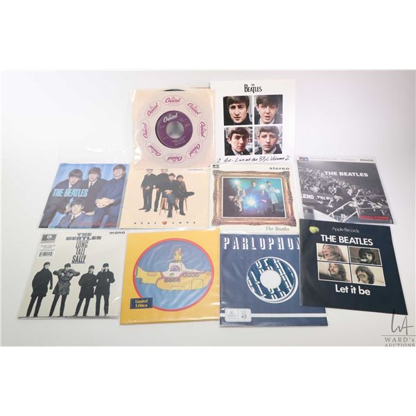 """Ten 45 rpm Beatles singles including limited edition """" Yellow Submarine"""", """" I Want to Hold your Hand"""