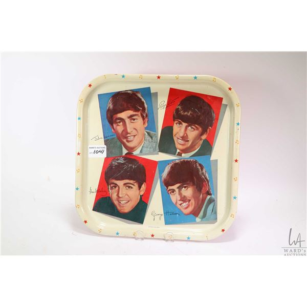Vintage Beatles pictorial drinks tray marked 6MB made in Great Britain