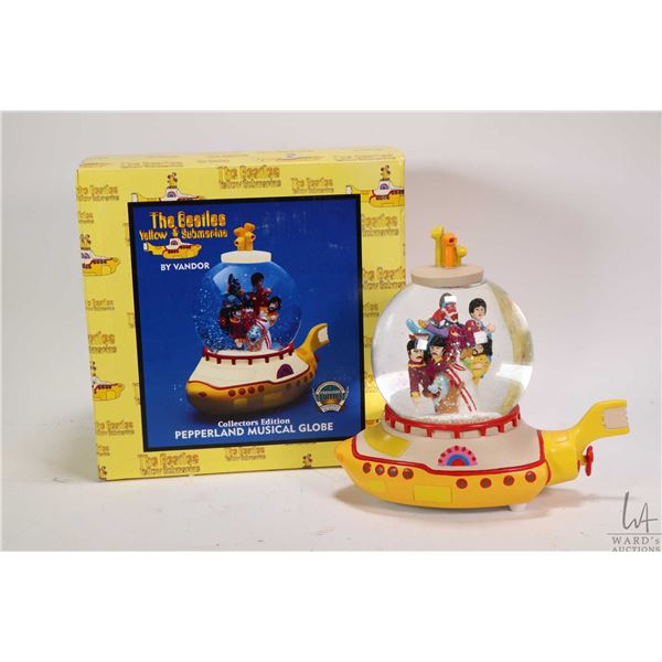 Beatles Yellow Submarine Collectors Edition Pepperland Musical Globe, appears new in box