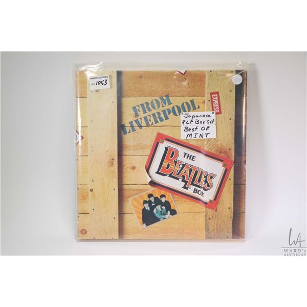 """Boxed set from Liverpool """"The Beatles Box"""" including eight LP albums and booklets with lyrics in Eng"""