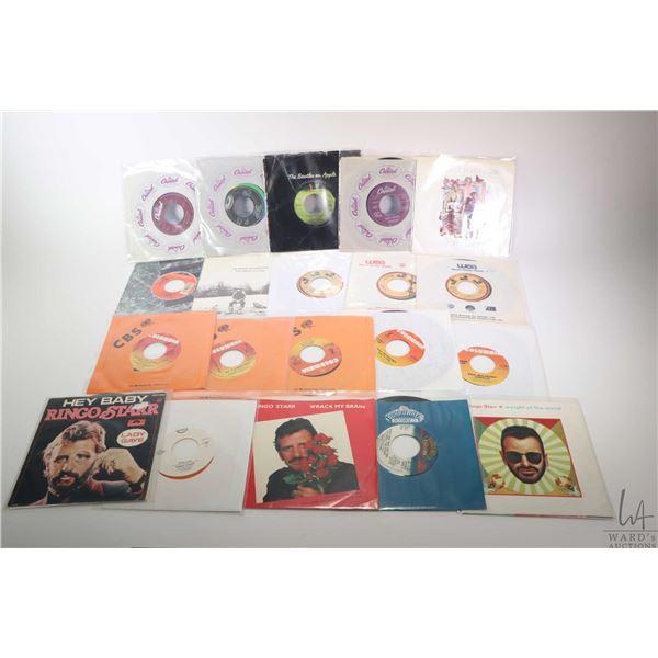 Twenty 45 rpm singles including John Lennon, Paul McCartney, Ringo Starr and George Harrison solo pr