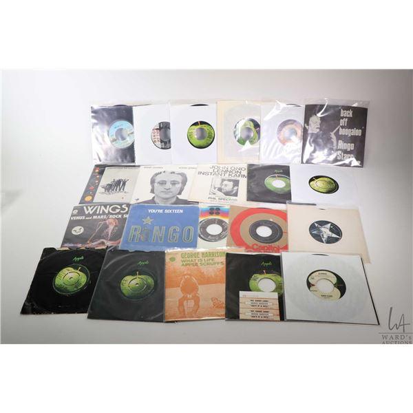 "Twenty 45 rpm singles including John Lennon, Wings, Ringo Starr and George Harrison including ""No.9"