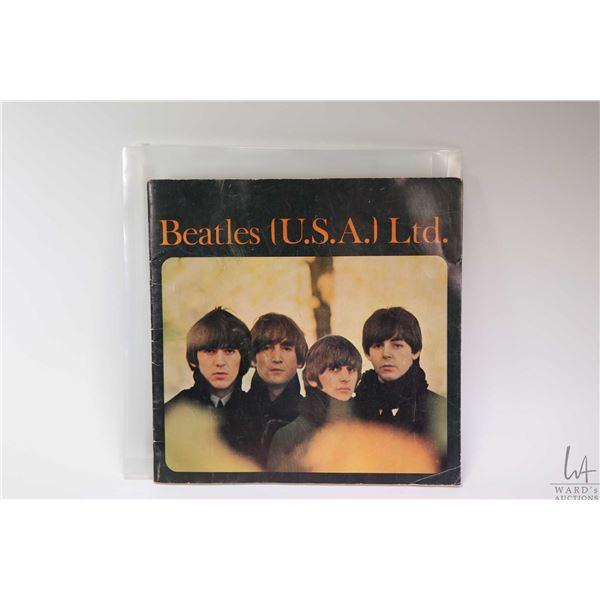 Vintage Beatles (U.S.A) Ltd. black and white promotional Beatles fan club program with hand written