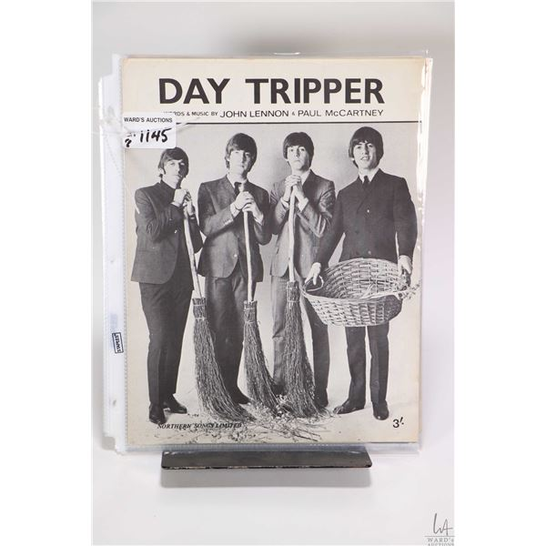 """Eight copies of vintage Beatles sheet music including """"Norwegian Wood"""", ?We Can Work It Out"""", """"Day T"""