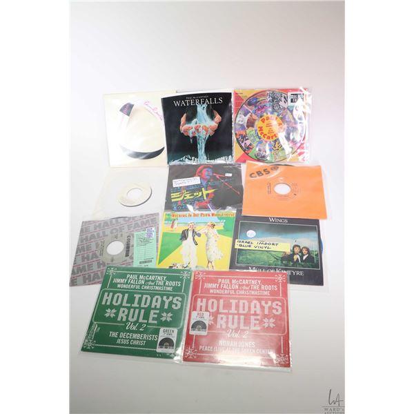 "Ten 45 rpm Beatles singles including Paul McCartney, Paul McCartney and Wings including ""Home Tonigh"