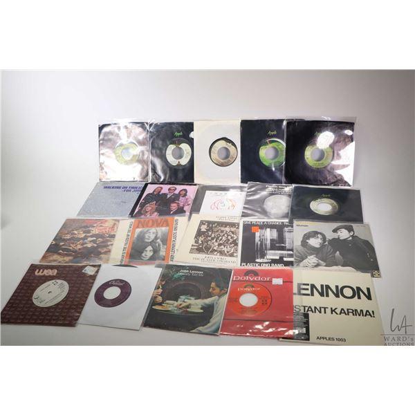 """Large selection of vintage 45 rpm singles including John Lennon, Yoko Ono, Elton John   """"I'm Steppin"""