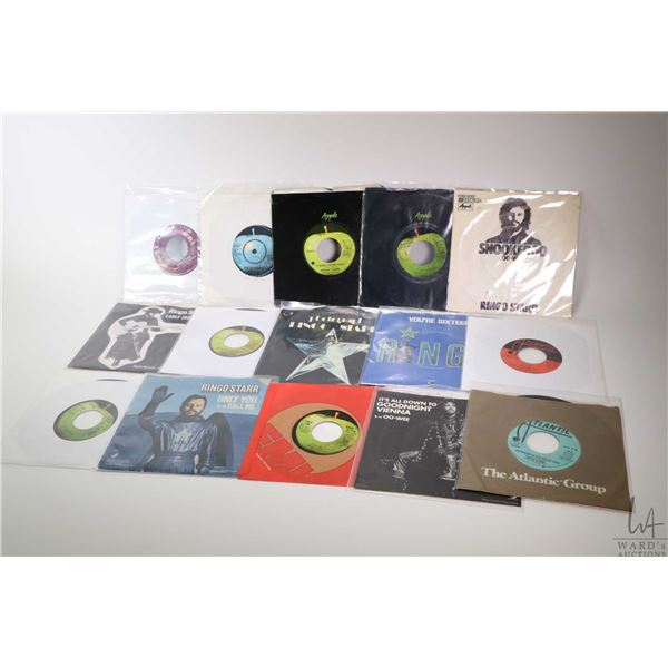 Large selection of vintage 45 rpm singles by Ringo Starr including Snookeroo Oo-Wee, Coochy-Coochy,