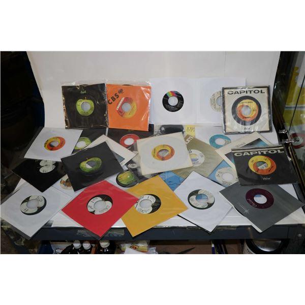 Selection of vintage 45 rpm singles including Bad Finger, Elton John, Paul and Linda McCartney,  Bea
