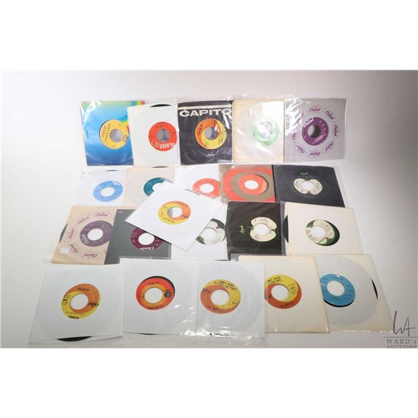 """Twenty one Beatles 45 rpms """"Yesterday"""", """"All You Need is Love"""", """"Eight Days a Week"""" etc. domestic an"""