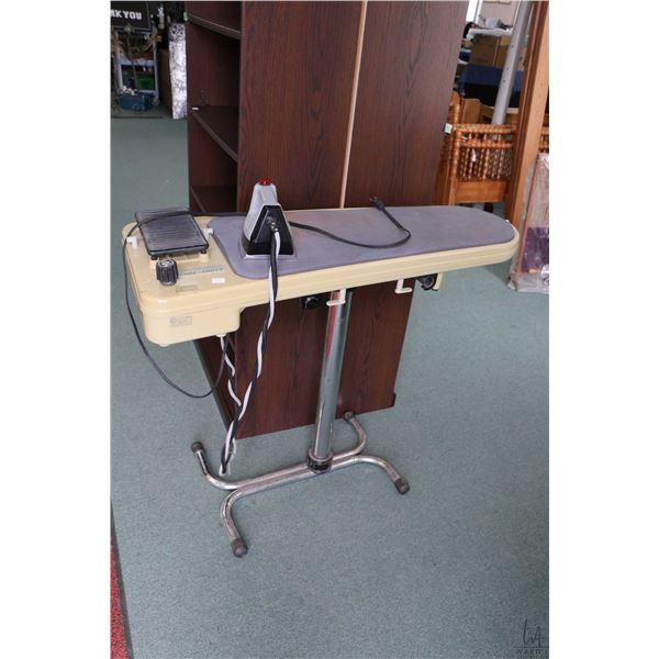 """Professional ironing board """"Euro Pro Ironing Solution"""" with iron, not tested at time of cataloguing"""