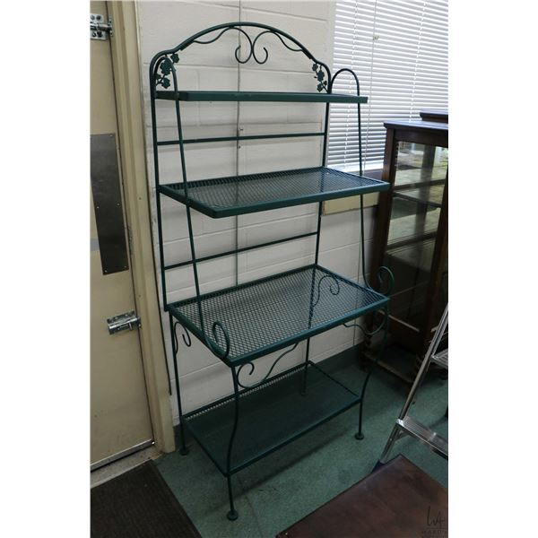 """Semi contemporary four tier baker's rack 70"""" in height"""