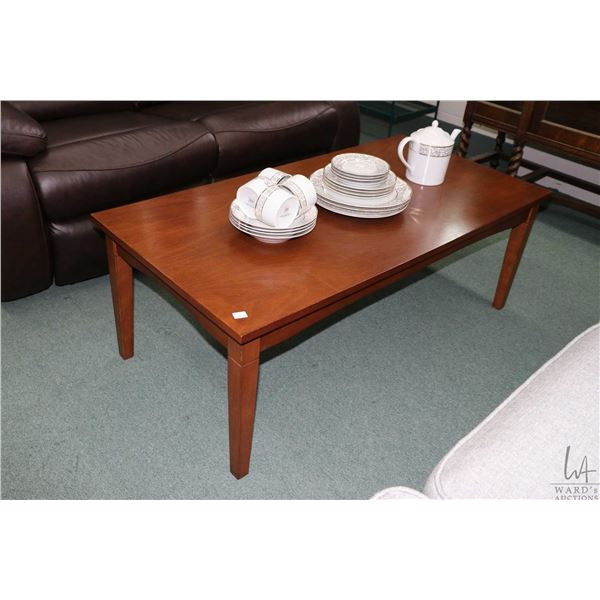 Three piece parlour table set including coffee and two end tables