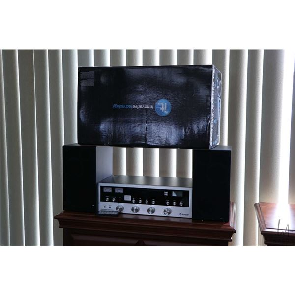 innovative technology small sized component stereo system with CD player, radio, blue tooth wireless