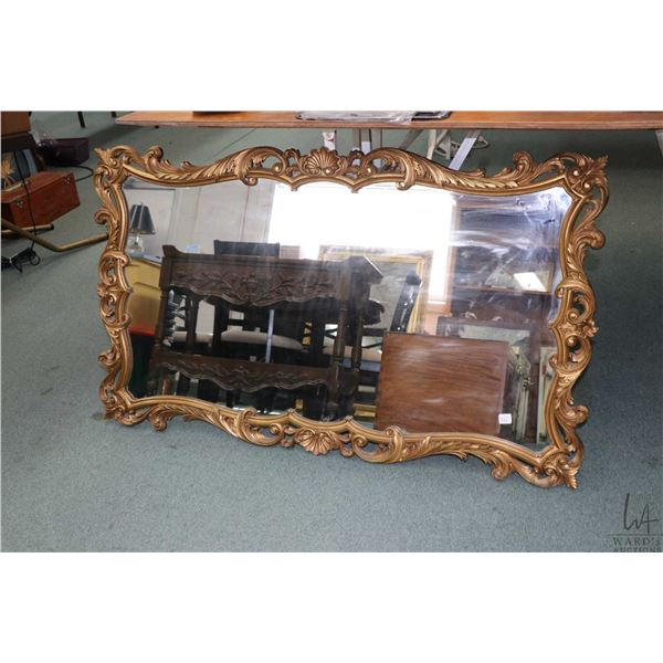 """Vintage gilt framed wall mirror, overall dimension 28"""" X 46"""". Note: Not Available For Shipping. Loca"""