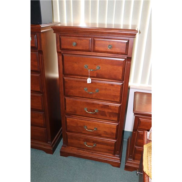 """Modern six drawer lingerie chest, 54"""" high made by Ideal Furniture Ltd. Canada"""