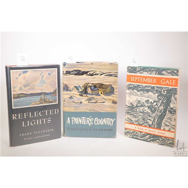 """Three first edition collectible Canadian art books """"A Painter's Country- the autobiography of A.Y. J"""