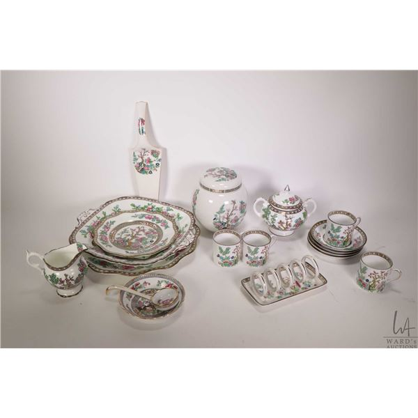 Selection of India Tree porcelain, assorted makers including Coalport, Anchor, Bridgwood etc.; cake