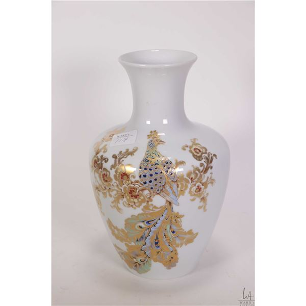 """Kaiser handpainted painted and hand gilded """"Rapsodie"""" vase 8 1/2"""" in height"""