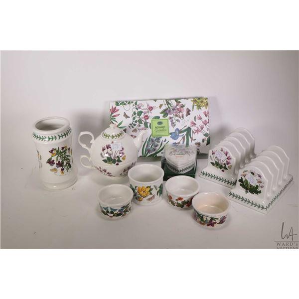 "Selection of Portmerion ""Botanic Garden"" including two toast racks, stacking teapot, four ramikins,"