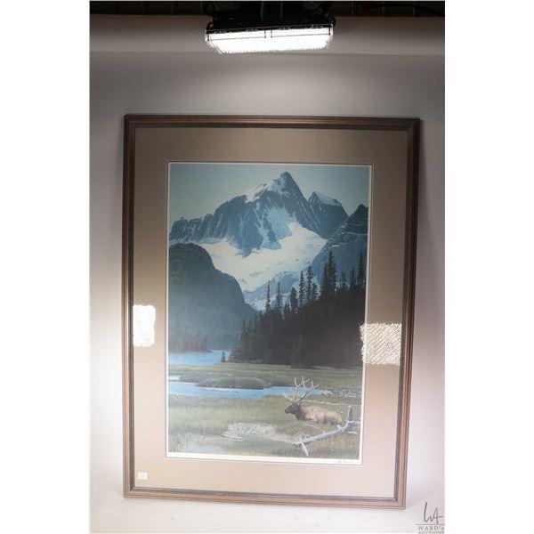 "Framed limited edition print titled ""Summer Pasture"" 1901/3000 pencil signed by artist Alan Barnard."