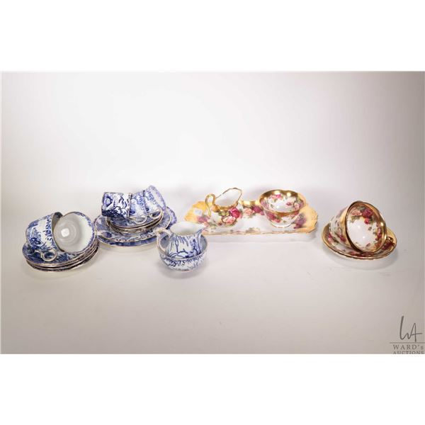 Selection of collectible china including Royal Crown Derby Mikado; three demitasses and saucers in t