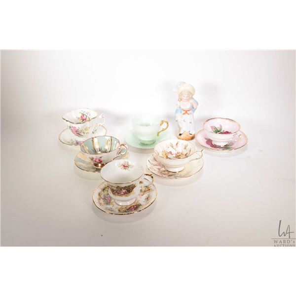 Two tray lots of china collectibles including eight teacups and saucer; Royal Doulton , Paragon etc.