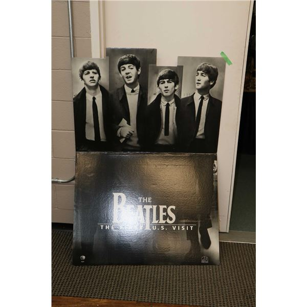 """Beatles cardboard stand up """"The First U.S. Visit"""" with shipper"""