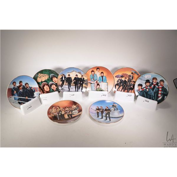 Selection of eight Beatles motif collectible plates by Delphi for Franklin Mint including Hard Day's